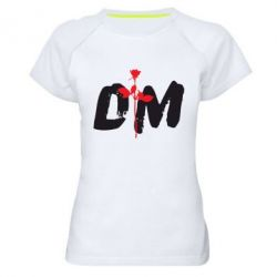 Женская спортивная футболка depeche mode logo