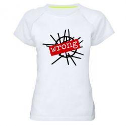 Женская спортивная футболка Depeche Mode Wrong - FatLine
