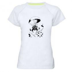 Женская спортивная футболка Десантник - FatLine