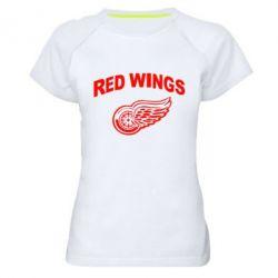 Женская спортивная футболка Detroit Red Wings - FatLine