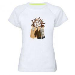 Женская спортивная футболка Дин, Сэм и Кас - FatLine