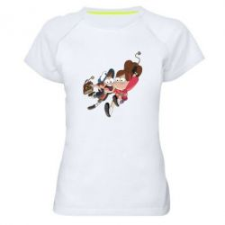 Женская спортивная футболка Диппер и Мэйбл - FatLine