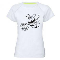 Женская спортивная футболка Добрая пчелка - FatLine