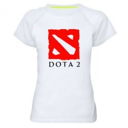 Женская спортивная футболка Dota 2 Big Logo