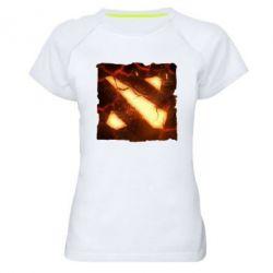 Женская спортивная футболка Dota 2 Fire Logo - FatLine