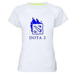 Женская спортивная футболка Dota 2 Fire - FatLine