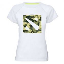 Женская спортивная футболка Dota камуфляж - FatLine