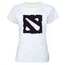 Женская спортивная футболка Dota Logo Дота - FatLine