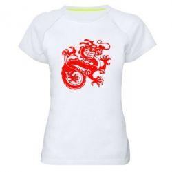 Женская спортивная футболка Дракон - FatLine