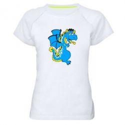 Женская спортивная футболка Дракоша