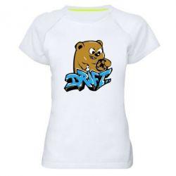 Женская спортивная футболка Drift Bear - FatLine