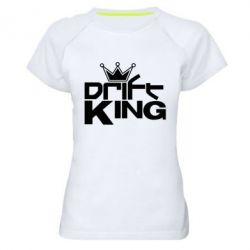 Женская спортивная футболка Drift King - FatLine