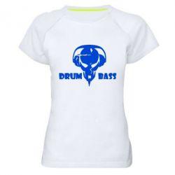 Женская спортивная футболка Drumm Bass - FatLine