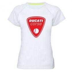 Женская спортивная футболка Ducati Corse - FatLine