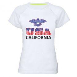 Женская спортивная футболка Eagle USA - FatLine