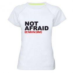 Женская спортивная футболка Eminem Not Afraid - FatLine