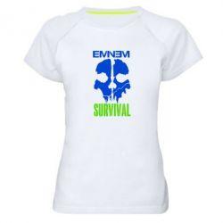 Женская спортивная футболка Eminem Survival - FatLine