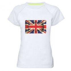 Женская спортивная футболка England - FatLine