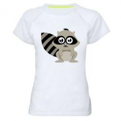 Женская спортивная футболка Енот - FatLine