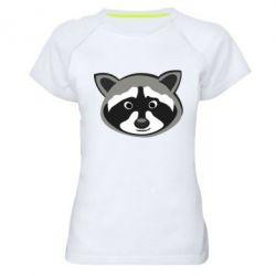 Женская спортивная футболка Енотик - FatLine