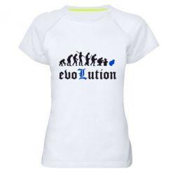 Женская спортивная футболка Evolution Death Note