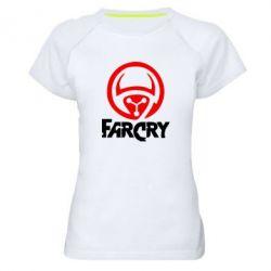 Женская спортивная футболка FarCry LOgo - FatLine