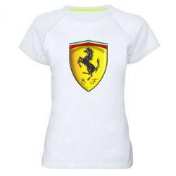 Женская спортивная футболка Ferrari 3D Logo - FatLine