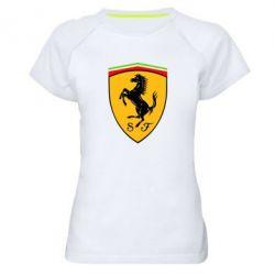 Женская спортивная футболка Ferrari - FatLine