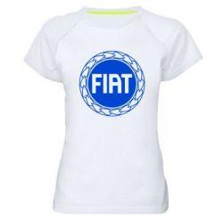 Женская спортивная футболка Fiat logo - FatLine