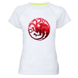 Женская спортивная футболка Fire and Blood