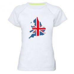 Женская спортивная футболка Флаг Англии - FatLine