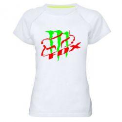Женская спортивная футболка Фокс Енерджи - FatLine