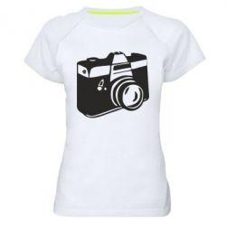Женская спортивная футболка Фотоаппарат - FatLine