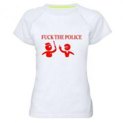 Женская спортивная футболка Fuck the Police - FatLine