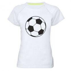 Женская спортивная футболка Футбольный мяч - FatLine
