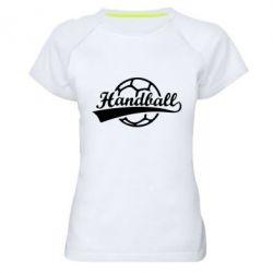 Жіноча спортивна футболка Гандбол Лого