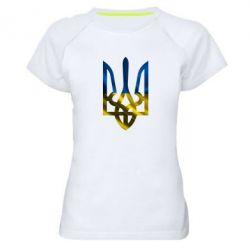 Женская спортивная футболка Герб на фоні прапора - FatLine