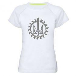 Женская спортивная футболка Герб у сонці