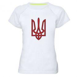 Женская спортивная футболка Герб України (двокольоровий) - FatLine