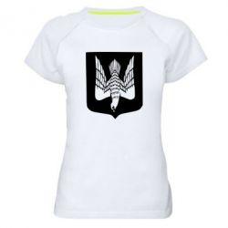 Жіноча спортивна футболка Герб України сокіл