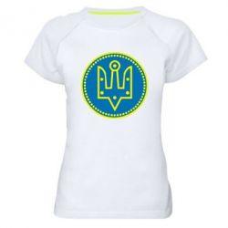 Женская спортивная футболка Герб України у колі - FatLine