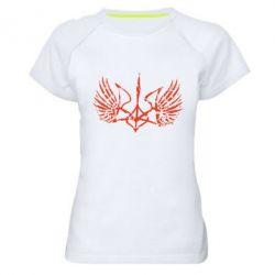 Женская спортивная футболка Герб з крилами - FatLine