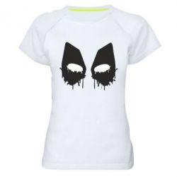 Женская спортивная футболка Глаза Deadpool - FatLine