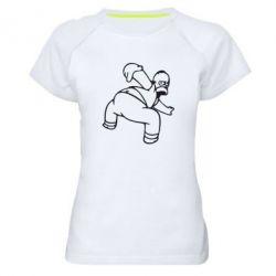 Женская спортивная футболка Гомер Симпсон - FatLine
