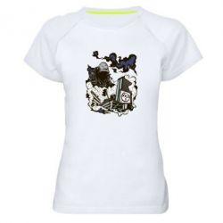 Женская спортивная футболка Город под подошвой