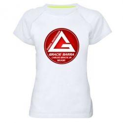 Женская спортивная футболка Gracie Barra Miami - FatLine