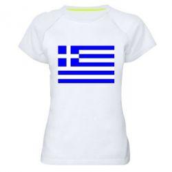 Женская спортивная футболка Греция - FatLine