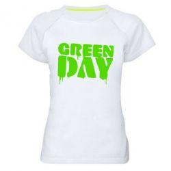 Женская спортивная футболка Green Day - FatLine