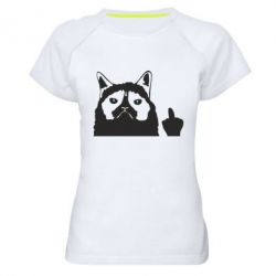 Жіноча спортивна футболка Grumpy cat F**k Off