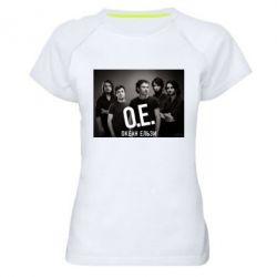 Женская спортивная футболка Группа Океан Ельзы